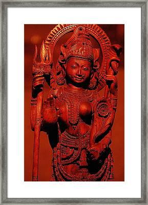 Hindu Goddess Framed Print by Abhilash G Nath