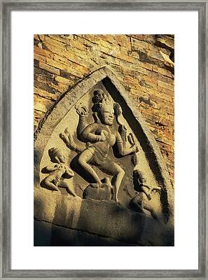 Hindu-influenced Art Above The Entrance Framed Print by Steve Raymer