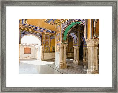 Hindu Palace Interior Framed Print by Inti St. Clair