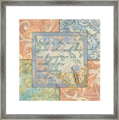 Hint Of Spring Butterfly 1 Framed Print by Debbie DeWitt