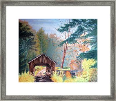 Hints Of Fall Framed Print by Maris Sherwood
