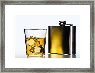 Hip Flask Framed Print by Gert Lavsen