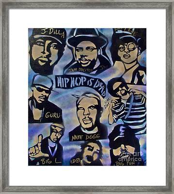 Hip Hop Is Dead #1 Framed Print by Tony B Conscious