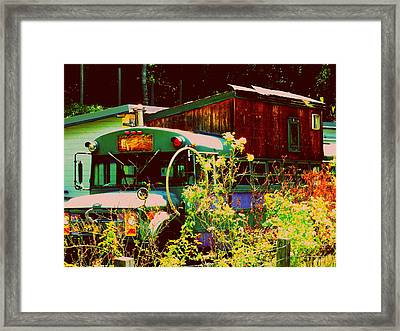 Hippie Camping Framed Print by Cindy Wright