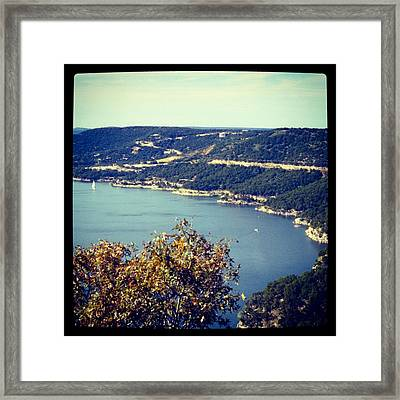 Hippie Hollow  Framed Print