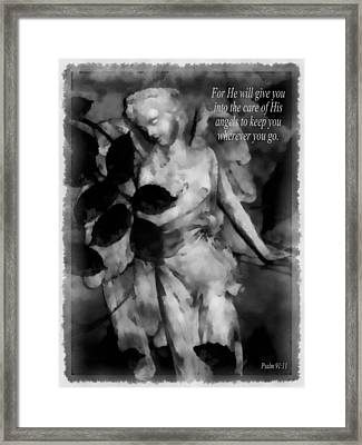 His Angels 1 Framed Print by Angelina Vick