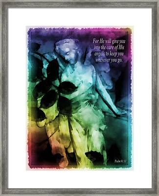His Angels 3 Framed Print by Angelina Vick