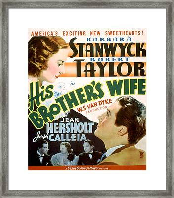 His Brothers Wife, Barbara Stanwyck Framed Print by Everett