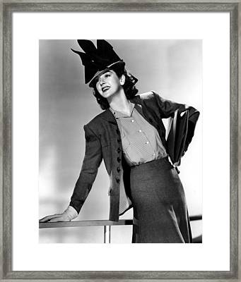 His Girl Friday, Rosalind Russell,1940 Framed Print by Everett