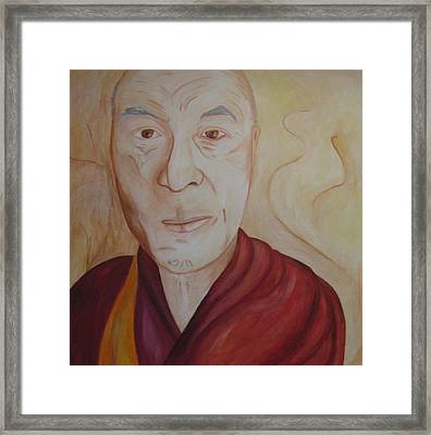His Holiness The Dalai Lama Framed Print by Lorraine Toler