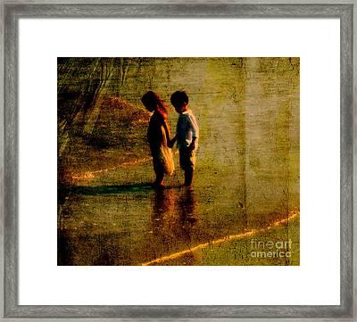 His Kindergarten Sweetheart Framed Print by Susanne Van Hulst