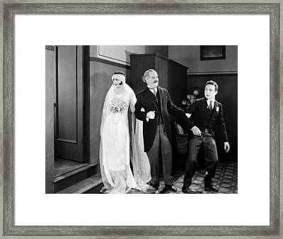 His Marriage Wow, 1925 Framed Print