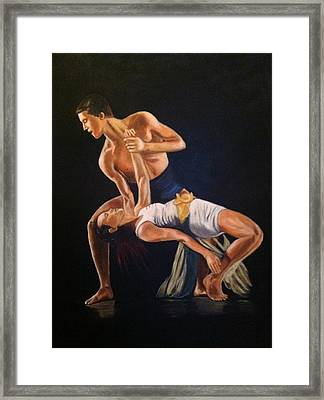 His Passion Framed Print by Lynette Brown