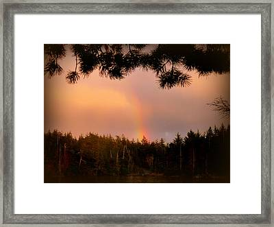 His Promise Framed Print by Cindy Wright