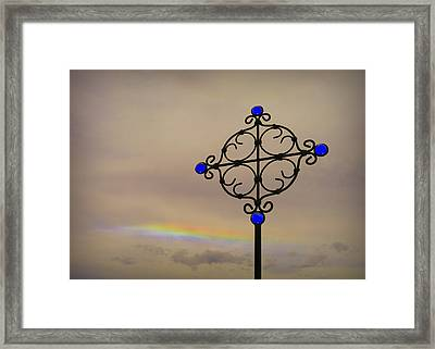 His Promises Framed Print by Cindy Wright
