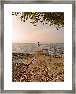 His Way Framed Print