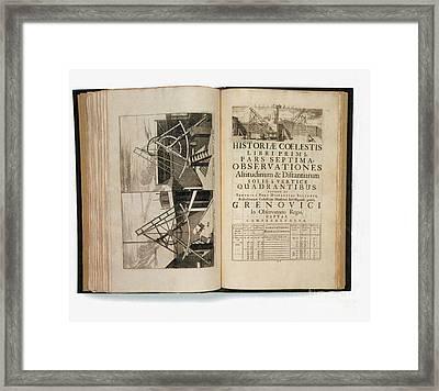 Historia Coelestis Britannica, 18th Framed Print