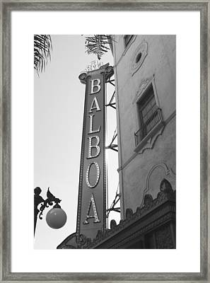 Historic Balboa Theater Framed Print