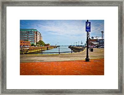 Historic Boston Boardwalk Framed Print by Erica McLellan
