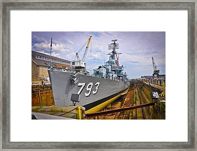 Historic Boston Ship Framed Print by Erica McLellan