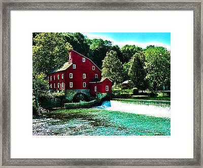 Historic Clinton Red Mill  Framed Print by Artistic Photos