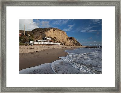 Historic Cottage  Crystal Cove State Beach Framed Print by Cliff Wassmann