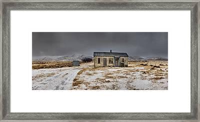 Historic Farm After Snowfall Otago New Framed Print by Colin Monteath