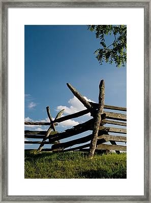 Historic Fence At Antietam Framed Print