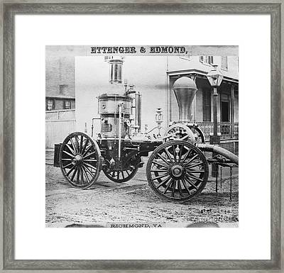 Historic Fire Engine Framed Print by Omikron