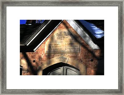 Historic Fort Collins Waterworks Framed Print by Cynthia Cox Cottam