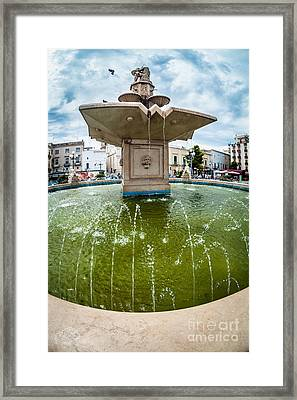 Historic Fountain Framed Print