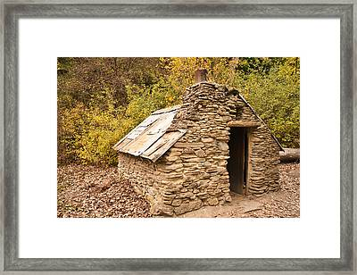 Historic Gold Miners Stone Cottage Framed Print by Graeme Knox