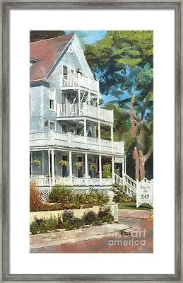 Historic Harbour View Inn B And B Mackinac Island Michigan Framed Print by Anne Kitzman