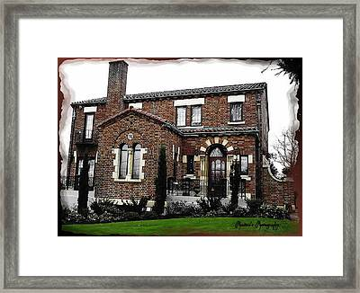 Framed Print featuring the photograph Historic House by Sadie Reneau