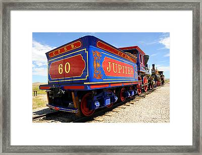 Historic Jupiter Train - Promontory Point National Historic Park Framed Print