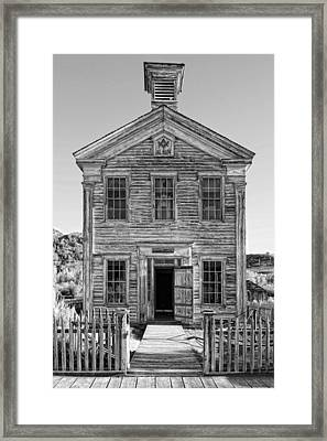 Historic Masonic Lodge 3777 In Bannack Montana Ghost Town Framed Print by Daniel Hagerman