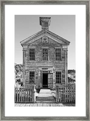 Historic Masonic Lodge 3777 In Bannack Montana Ghost Town Framed Print