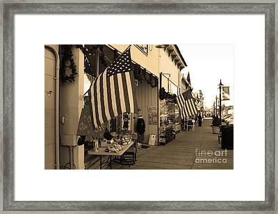 Historic Niles District In California Near Fremont . Main Street . Niles Boulevard . 7d10692 . Sepia Framed Print by Wingsdomain Art and Photography