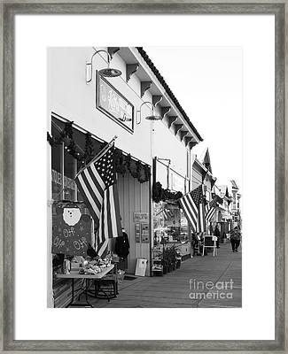 Historic Niles District In California Near Fremont . Main Street . Niles Boulevard . 7d10693 . Bw Framed Print by Wingsdomain Art and Photography