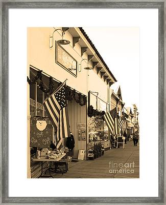 Historic Niles District In California Near Fremont . Main Street . Niles Boulevard . 7d10693 . Sepia Framed Print by Wingsdomain Art and Photography