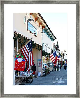 Historic Niles District In California Near Fremont . Main Street . Niles Boulevard . 7d10693 Framed Print by Wingsdomain Art and Photography