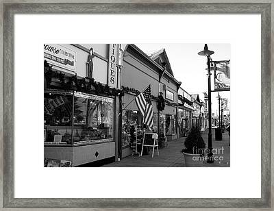 Historic Niles District In California Near Fremont . Main Street . Niles Boulevard . 7d10701 . Bw Framed Print by Wingsdomain Art and Photography