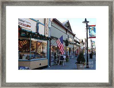 Historic Niles District In California Near Fremont . Main Street . Niles Boulevard . 7d10701 Framed Print by Wingsdomain Art and Photography