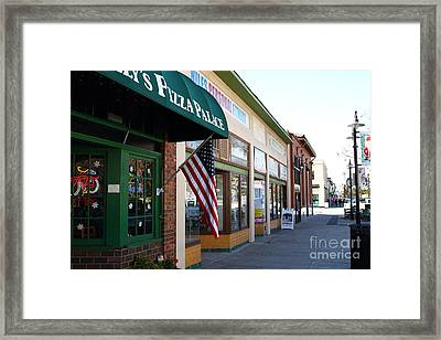 Historic Niles District In California Near Fremont . Main Street . Niles Boulevard . 7d10706 Framed Print by Wingsdomain Art and Photography