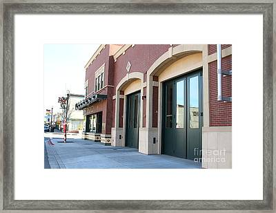 Historic Niles District In California Near Fremont . Niles Fire Station Number 2 . 7d10731 Framed Print by Wingsdomain Art and Photography