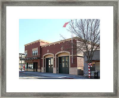 Historic Niles District In California Near Fremont . Niles Fire Station Number 2 . 7d10732 Framed Print by Wingsdomain Art and Photography