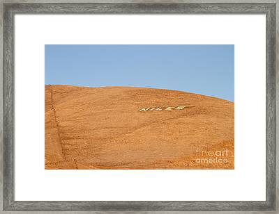 Historic Niles District In California Near Fremont . Niles Letters On Hill . 7d10604 Framed Print by Wingsdomain Art and Photography