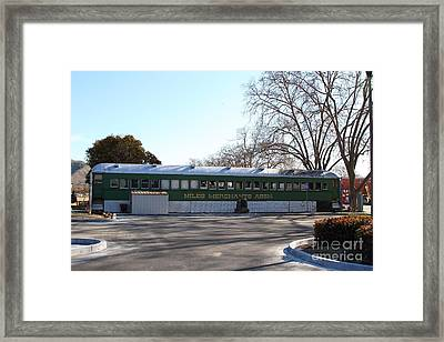 Historic Niles District In California Near Fremont . Niles Merchants Association Train Office . 7d10 Framed Print by Wingsdomain Art and Photography