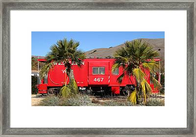 Historic Niles District In California Near Fremont . Western Pacific Caboose Train . 7d10614 Framed Print by Wingsdomain Art and Photography