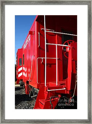 Historic Niles District In California Near Fremont . Western Pacific Caboose Train . 7d10622 Framed Print by Wingsdomain Art and Photography